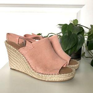Toms || Monica Wedge Heel Pink Leather
